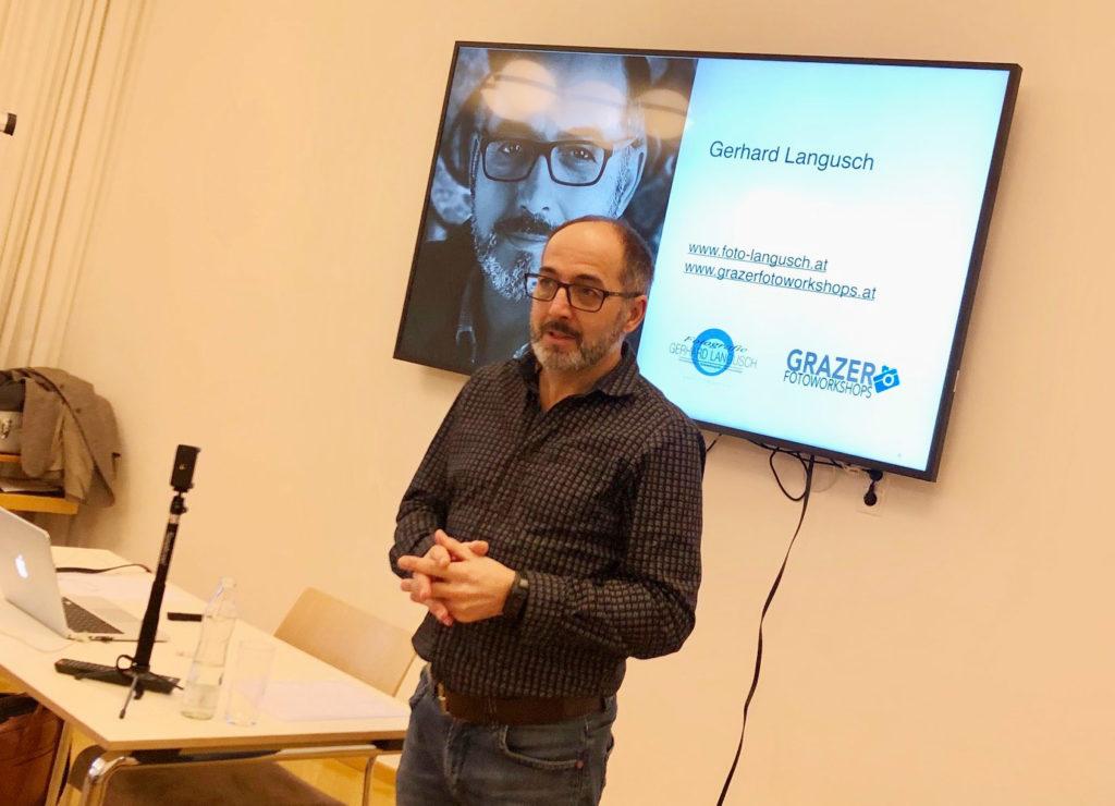 Gerhard Langusch beim Foto und Social Media Workshop